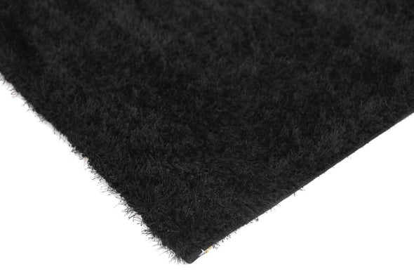 GRAND SHAGGY BLACK RUG