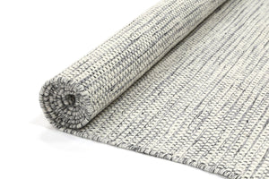 Scandi Grey Reversible Wool Rug