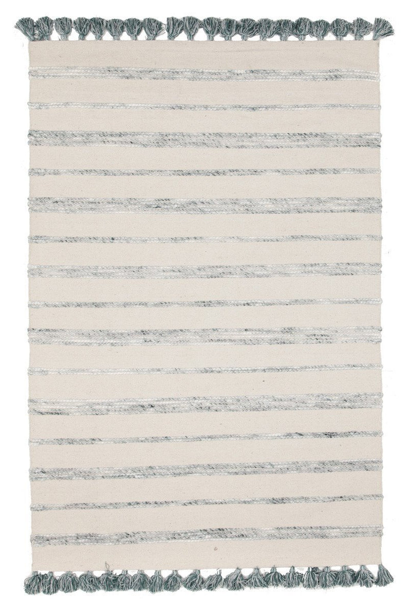 Gypsy Coconut Cotton Wool Viscose Reversible White Rug