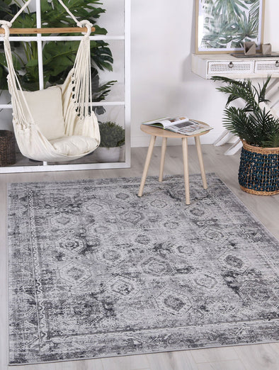 Courtyard Herat Indoor/Outdoor Grey Rug