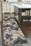 Heirloom Rembrandt Designer Ivory Blue Runner Rug