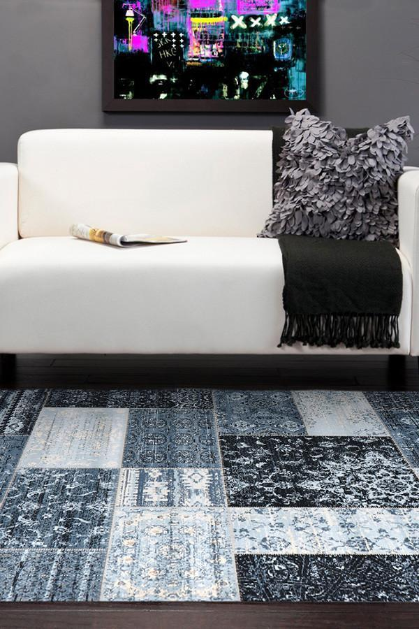 Heirloom Neo Patchwork Designer Blue Rug