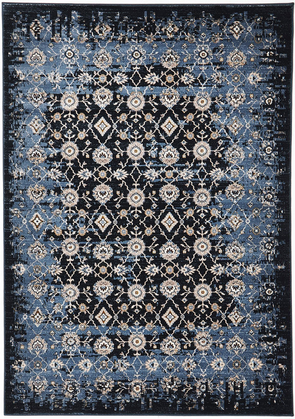 Heirloom Royal Kashan Designer Blue Navy Rug