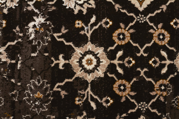 Heirloom Royal Kashan Designer Chocolate Brown Runner Rug