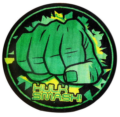 Non Slip Black Green Kids Marvel Super Hero Hulk Smash Hands Fist Circle Area Rug Baby Play Mat
