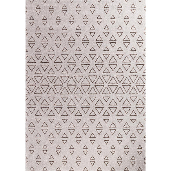 Brooklyn Cream Triangle Shaped Abstract Rug