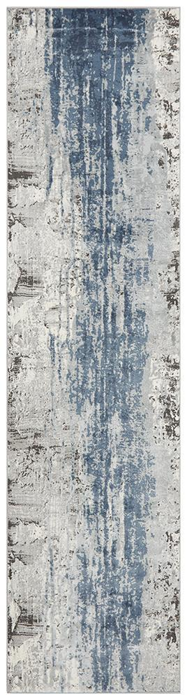 Kendra Roxana Distressed Timeless Rug Blue Grey White