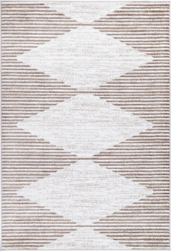 Shadow Abstract Diamond Latte Rug