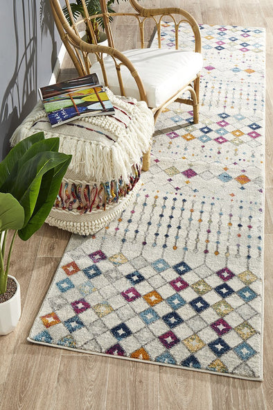 Mirage Peggy Tribal Morrocan Style Multi Runner Rug