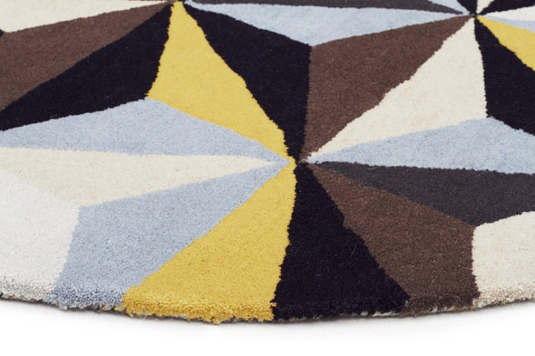 Matrix Pure Wool Blue Round Rug
