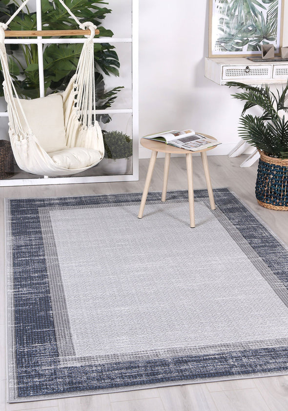 Courtyard New York Indoor/Outdoor Blue Rug