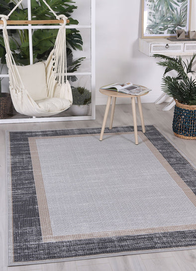 Courtyard New York Indoor/Outdoor Grey Rug