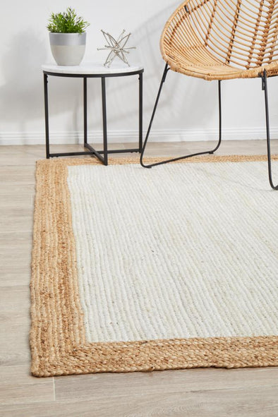 Byron 333 White Natural Rug