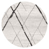 Oasis Noah White Grey Contemporary Round Rug