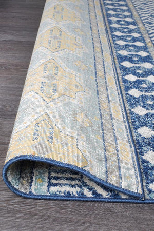 Oasis Sabrina Navy Tribal Runner Rug