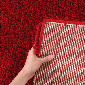 Pandora Thick Soft Polar Shag Runner Rug Rouge