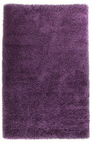 Pandora Collection Thick Soft Polar Plum Shag Rug