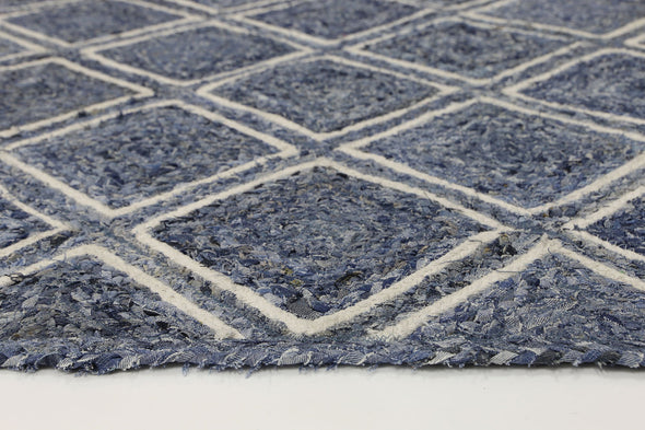 Artisan Blue Natural Parquetry Rug