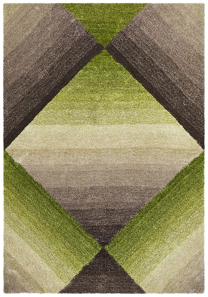 Prism Maria Green Multi Coloured Textured Rug
