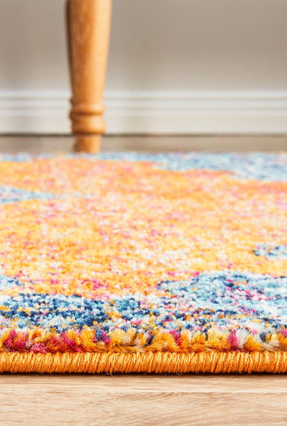 Radiance 433 Rust Runner Rug