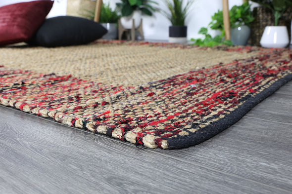 Mahal Multi Colour Boarder Jute Rug