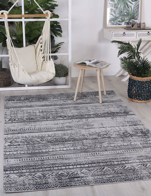 Courtyard Rome Indoor/Outdoor Grey Rug