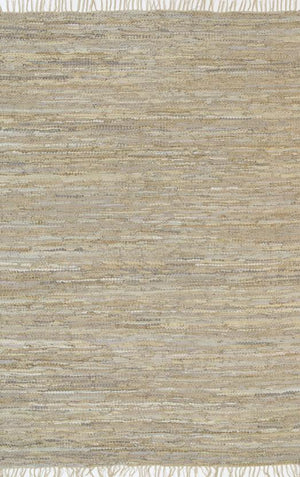 Metro Beige Modern Leather Rug