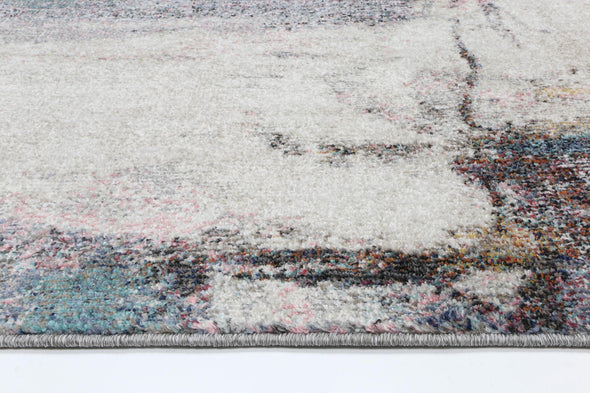 Mercury Abstract Grey Rug