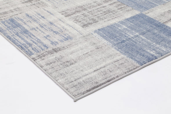 Garden Squares Indoor/Outdoor Blue Rug