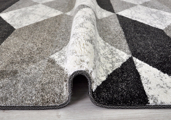 STUDIO G246A GREY/WHITE RUG