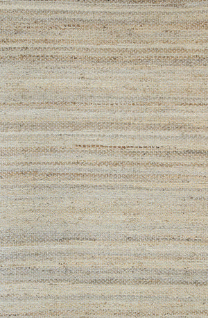 Taj Blue Natural Basket Weave Jute Rug