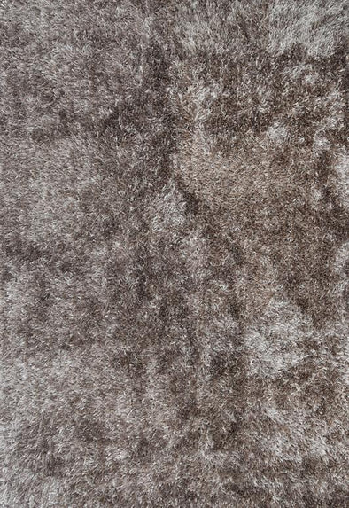 Venice Brown Beige Shaggy Rug