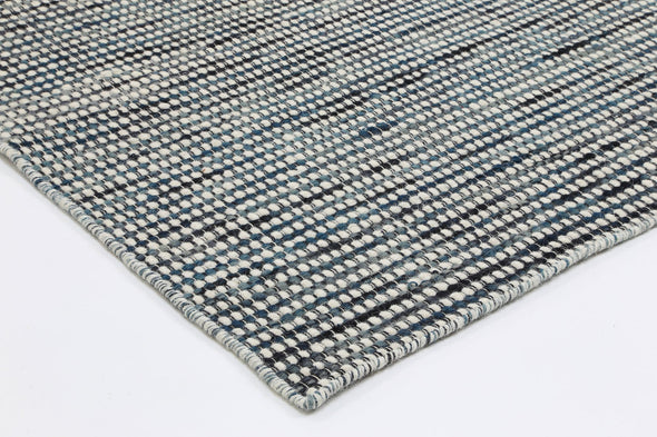 Scandi Teal Reversible Wool Rug