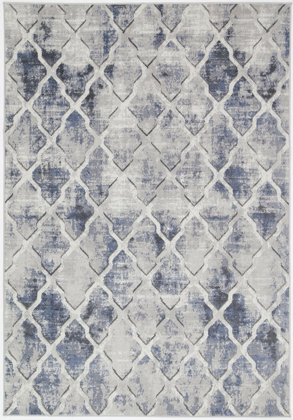 Garden Trellis Indoor/Outdoor Blue Rug