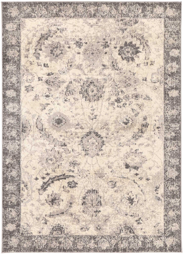 Tempest Beige/Black Traditional Rug