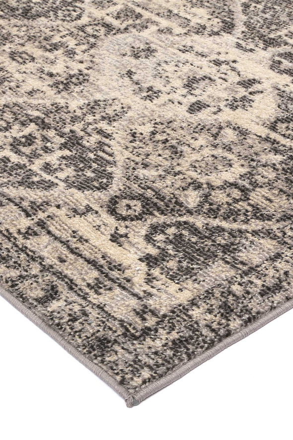 Tempest Grey/Black Diamond Rug