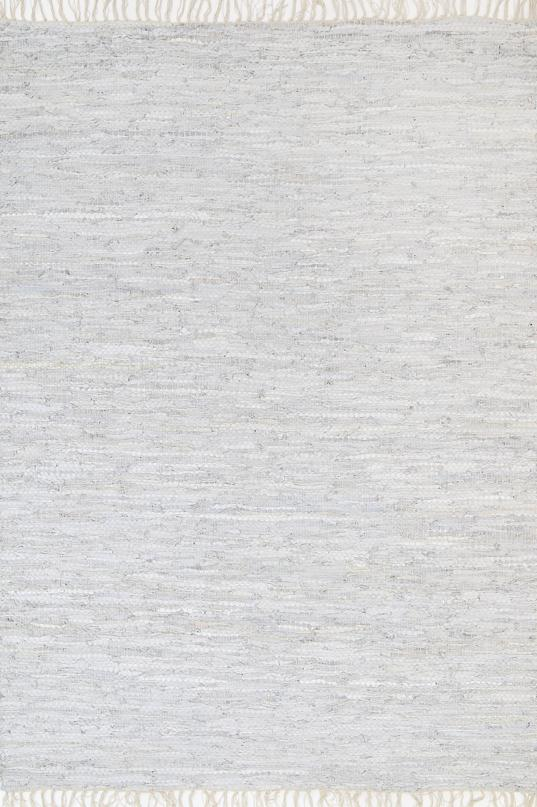 Metro White Modern Leather Rug