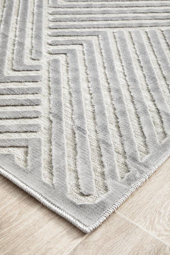Chicago Cindy Silver Runner Rug
