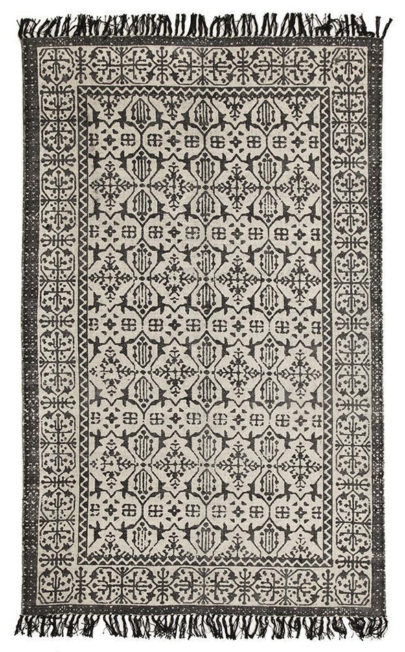 Zulu Totemic Clan Black Rug