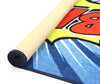 Non Slip Blue Kids Graphic Art Comic Book Bang Area Rug Baby Play Mat