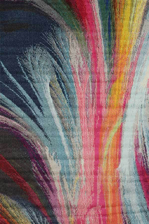 Casablanca Multi Colour Paint Art Rug
