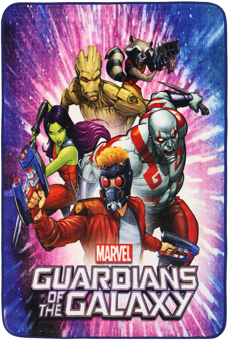 Non Slip Multicolour Marvel Super Hero Guardians of the Galaxy Team Area Rug Baby Play Mat