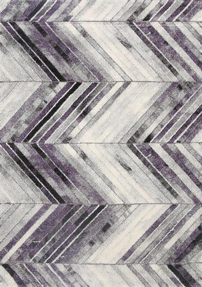 Cala Purple Chevron Textured Pile Rug