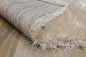 Eva Light Beige Shag Rug
