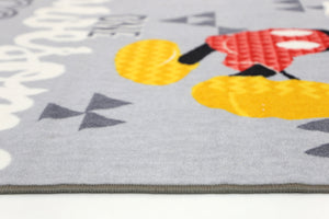Non Slip Grey Kids Disney Mickey Mouse Awesome Area Rug Baby Play Mat
