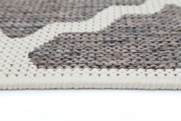 Sisalo Grey and Cream Geometric Rug