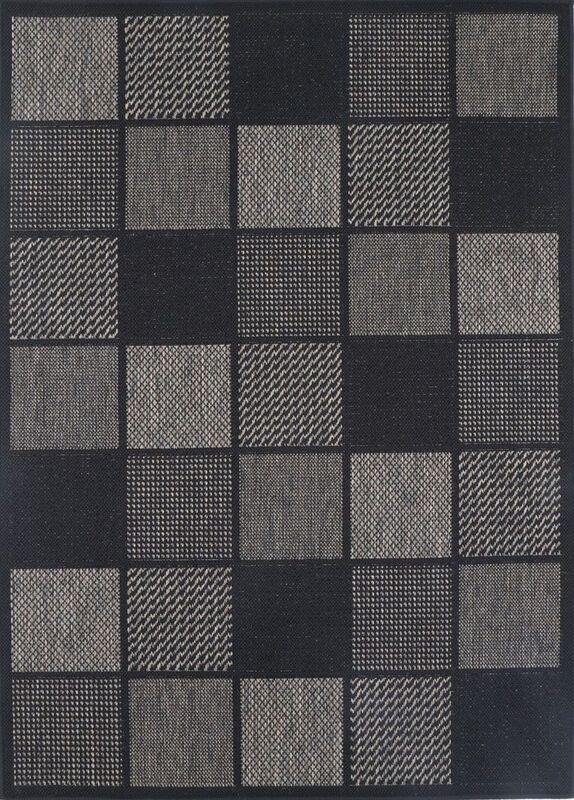 Sisalo Grey Square Shape Patterned Ikat Rug