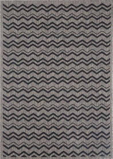 Sisalo Brown Beige and Black Geometric Rug