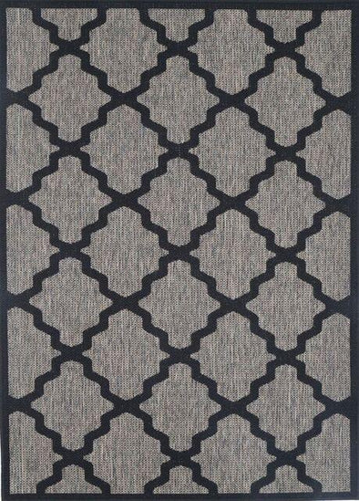 Sisalo Beige and Black Geometric Rug