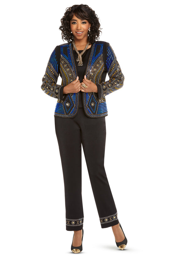 DONNA VINCI 11663 WOMEN 2PC PANT SUIT